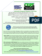 CERT Flyer - Winter 2018