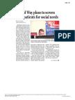 211 - The Plain Dealer - UW to Screen Poor Patients for Social Services
