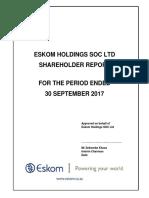 Eskom 2017 Q2 Final Draft Report to Shareholder