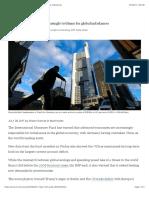 Advanced Economies Increasingly to Blame for Global Imbalances