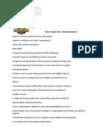 Door Supervisor Job Description