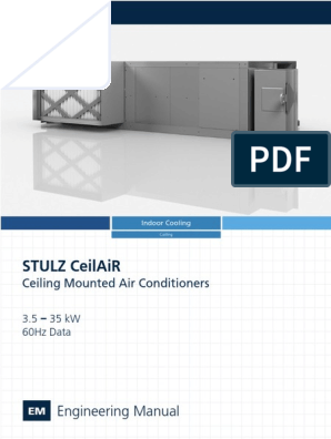 Stulz Ceilair Engineering Manual 60hz Qe Ohs0023a Air