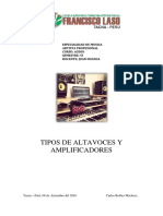 Tipos de Altavoces y Amplificadores - Audio