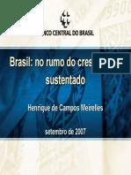 Brasil - No Rumo Do Crescimento Sustentado