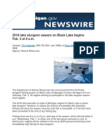 2018 lake sturgeon season on Black Lake begins Feb. 3 at 8 a.m.
