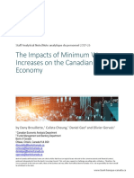 Bank of Canada Minimum Wage Report