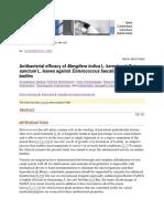 Antibacterial Efficacy of Mangifera Indica L. Kernel and Ocimum Sanctum L. Leaves Against Enterococcus Faecalis Dentinal Biofilm