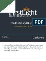 Tendonitis and Bursitis