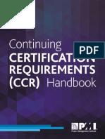 Ccr Certification Requirements Handbook