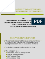 The Development Impact Towards Nutrition, Health and Environment