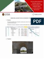 Especificaciones Tecnicas Muretes y Prismas