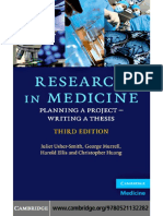 Research in Medicine Planning a Project Writing a Thesis 3rd Ed