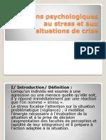 Réactions Psychologiques Au Stress Et Aux Situations De