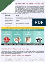 Data Center 300-165 CCNP Data Center Practice Test - Updated 2018