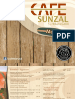 Menu Cafe Sunzal