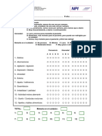 NPI Inventario Neuropsiquiátrico