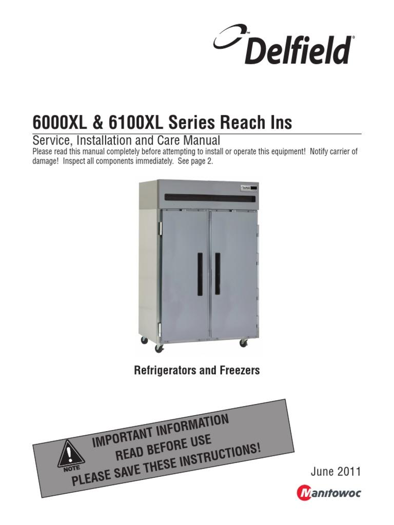 Delfield Fridge Dm6000xl | Refrigerator | Heating, Ventilating, And Air  Conditioning