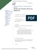 Modelo de Proposta (Plano de Negócios) - Assessoria em Planejamento