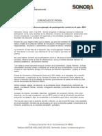 01/01/18 Serán escuelas de Sonora ejemplo de participación social en el país