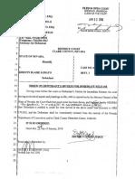 Order for Kirstin Lobato Release