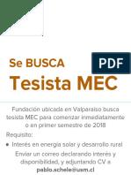 Tesista MEC - F Ecosan