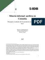 Mineria informal aurifera en Colombia - Informe_linea_base_mineria_informal - pagina Fedesarrollo.pdf