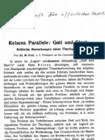 Pohl - Kelsen Parallele - Gott Und Staat - 1925