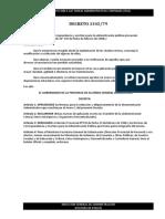 ITAC - Marco Legal - Decreto N° 1345/79
