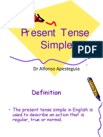 Presente Simple - Alfonso Apesteguia