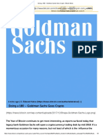 Doing a 180 – Goldman Sachs Goes Crypto - Bitcoin News