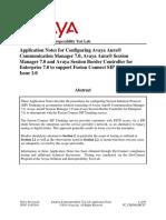 Avaya Tech App Note Aura 7.0