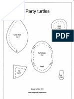 Pattern Pieces For Party Turtles