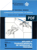 01 Mecnica de Minas Ffilado y Trabado Manual de Serrucho y Trocero Mdulo No 1