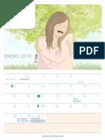 LUSATNAM Calendario Enero 2018