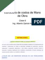 CM Clase 6 Estructura de Costos de Mano de Obra