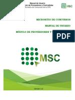 Manual MSC Proveedores y Contratistas v1a2 MICROSITIO CFE