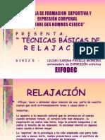 TECNICAS DE RELAJACION 2017