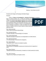 Carta Colegio Jornada