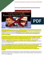 12-06-2017-Canular de l'Enquête Du Programme Spatial Secret Dévoilé Par Des Documents Et Des Experts en Informatique