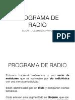 Estructura de un programa de radio