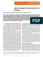 Emergence of Highly Transparent Photovoltaics for Distributed Applications
