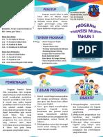 Brosur Program Transisi Tahun 1 2018