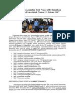 Manajemen Aparatur Sipil Negara Berdasarkan Peraturan Pemerintah Nomor 11 Tahun 2017