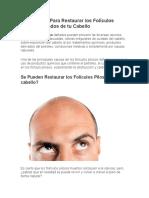Los 9 Pasos Para Restaurar Los Folículos Pilosos Dañados de Tu Cabello