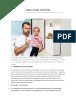 10 Formas de Impor Limites Aos Filhos