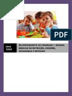 Manual ufcd 3241 - Acompanhante de crianças - regras básicas de nutrição, higiene, segurança e repouso.docx