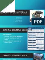 Garantía de Baterias