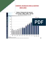 Demanda de Cemento en Bolivia Para La Gestion 2014 y 2015