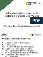 Angel Arteaga Alternativas de Inversion Sistema Financiero y de Valores