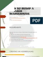 How to Setup Solaris Masternode